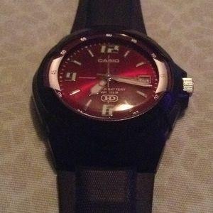 Casio mens black watch
